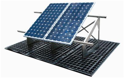 - a fotovoltaikus panelek tartó moduljai a drén lemezekhez közvetlenül kapcsolódnak
