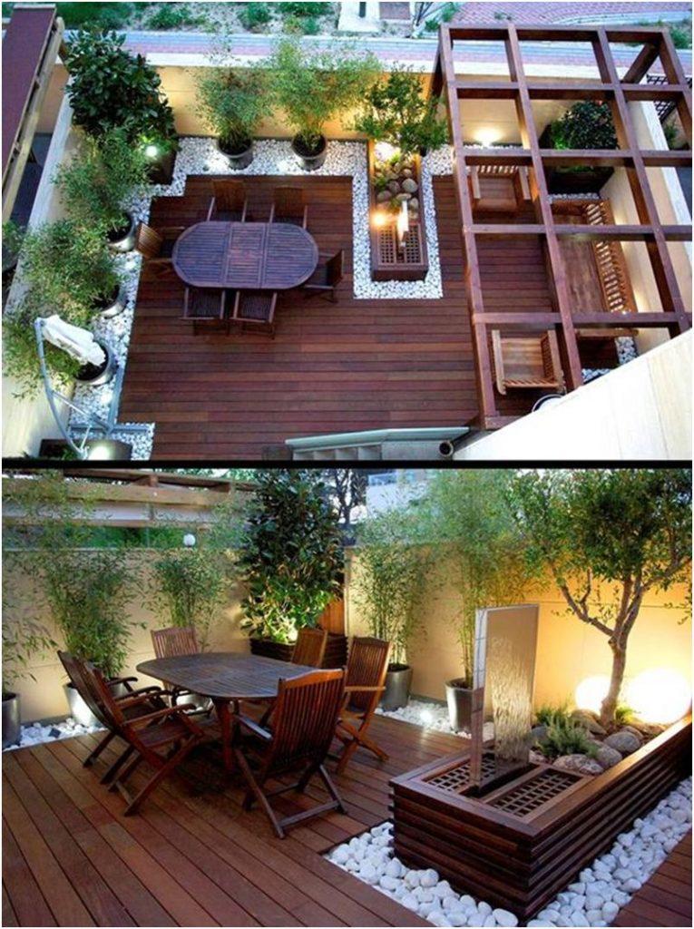 Zöld tetőterasz belakva